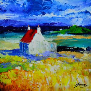 Spring Light, Cottage at Earsary, Barra